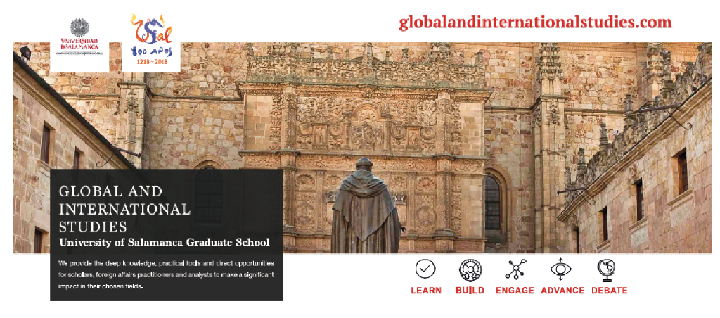 The Global and International Studies at the University of Salamanca is proud to announce a One Time Special Opportunity Scholarship for Spring 2018.