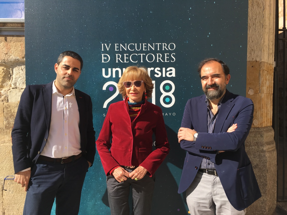 The Global and International Studies Program of the University of Salamanca and the Women for Africa Foundation met in Salamanca on the occasion of the Fourth Meeting of Rectors Universia2018