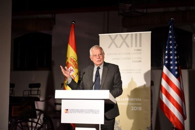 The Spanish Ministry of Foreign Affairs Josep Borrell, member of our Think Tank, opened the anual meeting of the Foundation United States-Spain Council.