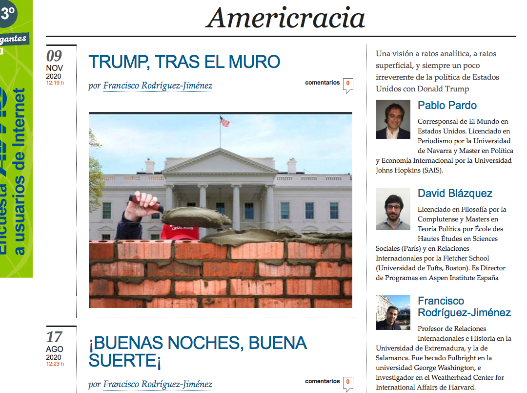Francisco Rodriguez-Jimenez publishes an article in El Mundo