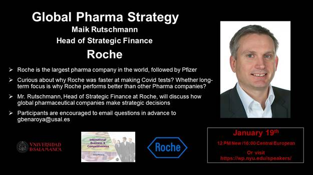 Guest lecture with the head of strategic finance at Roche